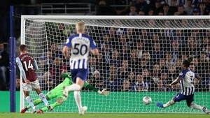 Conor Hourihane finds the net for Villa
