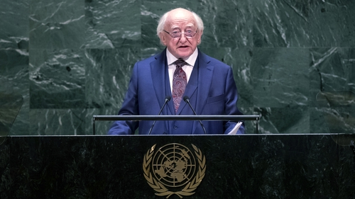 Michael D Higgins called on both sides in Israel to sit down andnegotiate a peace agreement