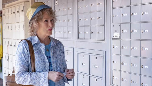 The matronly Ellen Martin is played by Meryl Streep, one of the all-star cast in the delightful skit, The Laundromat