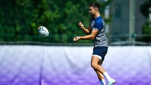Conor Murray in training in Japan