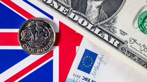 Sterling falls against both the dollar and the euro today
