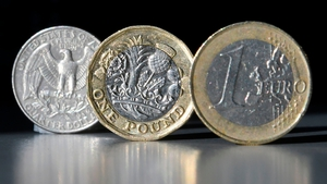 Sterling hits five month high against the euro today after comments from EU's Barnier
