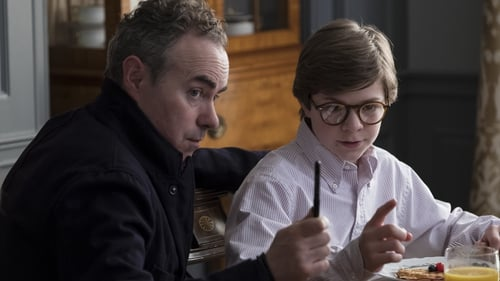 John Crowley on the set of The Goldfinch with Oates Fegley