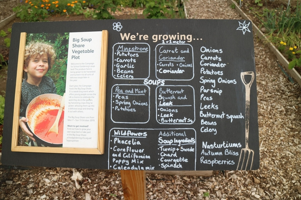 The RHS is encouraging children to grow their own ingredients for soup (RHS/PA)