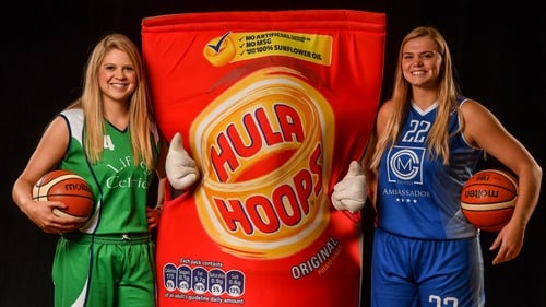 Kylee Smith (Liffey Celtics), left, and Tatum Neubert (Ambassador UCC Glanmire), right, are two of the new US recruits ahead of the 2019-20 Women's Super League