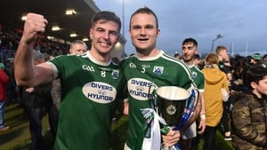 Daire O'Baoill and Neil McGee celebrate last year's Ulster win with Gaoth Dobhair