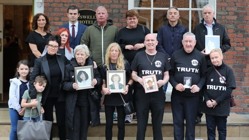 Some of the families of victims of the 1981 Stardust fire (File photo)
