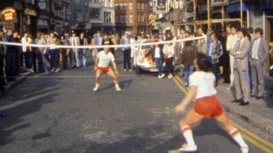 Footbag on Grafton Street (1984)