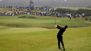 Rory McIlroy, pictured on the 18th at Kingsbarns, leads the Irish challenge at the Alfred Dunhill Links Championship