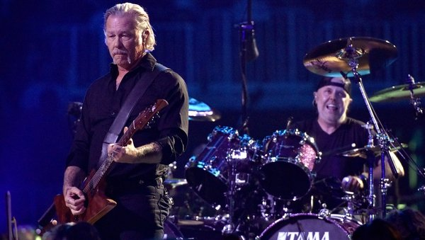 Metallica's James Hetfield and Lars Ulrich pictured on September 6