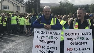 Up to 2,000 people are estimated to have gathered for the silent march in Oughterard