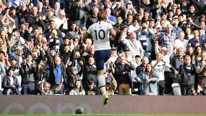 Harry Kane celebrates his goal at White Hart Lane