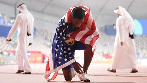 Christian Coleman reflects on his 100m triumph