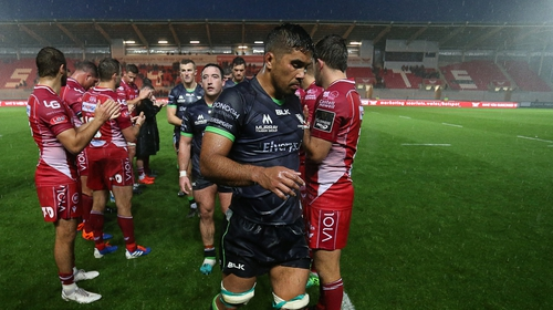 Connacht's Jared Butler comes off the pitch after their defeat to Scarlets