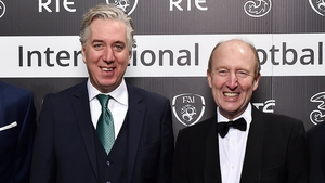 Minister Shane Ross (r), seen here with former FAI CEO John Delaney, said he would not be publishing the KOSI audit report