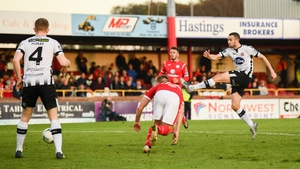Michael Duffy scores the only goal with a minute left in the Showgrounds