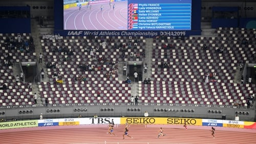 Empty stadiums have been a feature of the World Championships