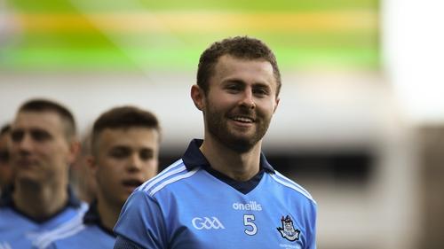 Jack McCaffrey smiling his way through the pre-match parade