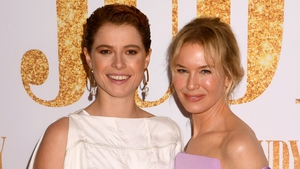 Jessie Buckley and Renée Zellweger at the European premiere of Judy in London on Monday, September 30