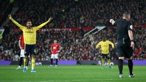 VAR ruled that Pierre-Emerick Aubameyang's goal stood in last night's Old Trafford draw