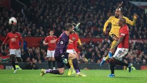 Pierre-Emerick Aubameyang levels it for Arsenal
