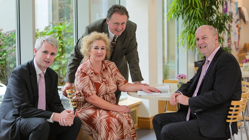Denis McCarthy, CEO Fexco, Brid McElligott, Vice President for R&D at Institute of Technology Tralee, Gerard O'Sullivan, Head of Business Fexco and Liam Cronin, CEO of RDI Hub