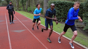 Mo Farah training with Alberto Salazar at the Nike campus back in 2013