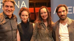 Arena's Sean Rocks, Hecuba star  Aislín McGuckin, Marina Carr and musician Caoimhín Ó Raghallaigh