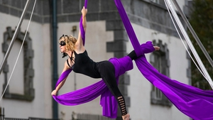 An aerial dancer will be performing as part of the arts festival