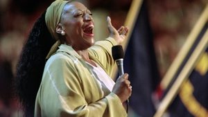 Soprano Jessye Norman performs to delegates of the 1996 Democratic National Convention