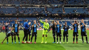Brugge's players take the plaudits after their draw