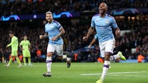 Manchester City's Raheem Sterling celebrates