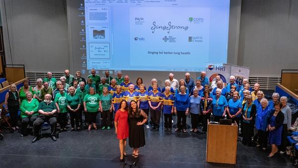 Singstrong choirs from Nenagh, Ennis and Limerick with choir director Ciara Meade and Róisín Cahalan