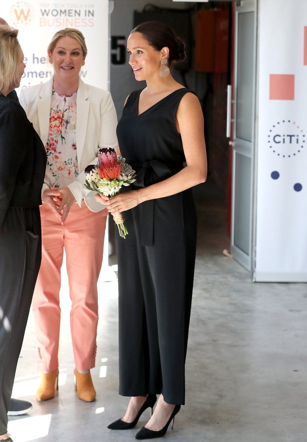 Meghan during a visit to the Woodstock Exchange in Cape Town (Chris Jackson/PA)