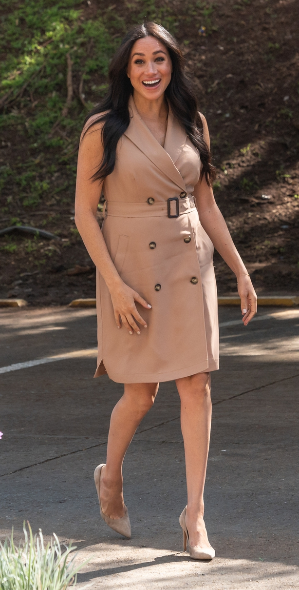 Meghan arriving to visit the University of Johannesburg