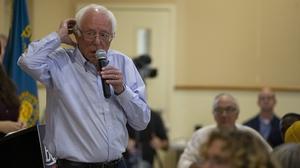 Bernie Sanders pictured in New Hampshire earlier this week