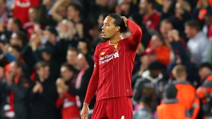Virgil van Dijk and his defensive colleagues were up against it against Salzburg