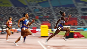 The Britain on her way to the gold medal