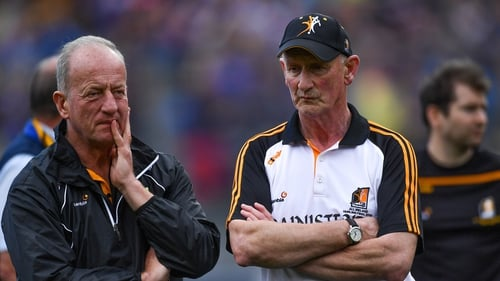 Dempsey (left) with Cody after All-Ireland defeat to Tipperary
