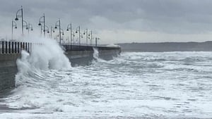 Stormy seas off Tramore, Co Waterford