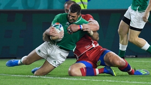 Rob Kearney scores Ireland's first try
