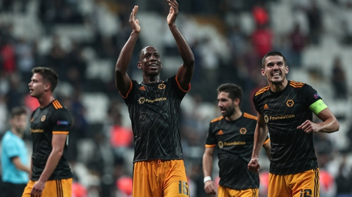 Willy Boly acknowledges the travelling support in Istanbul