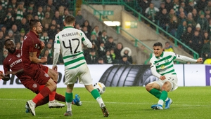 Mohamed Elyounoussi scores Celtic's's second goal