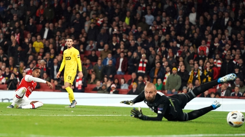 Joe Willock scores Arsenal's third