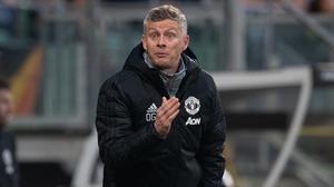 Manchester United manager Ole Gunnar Solskjaer gestures on the touchline