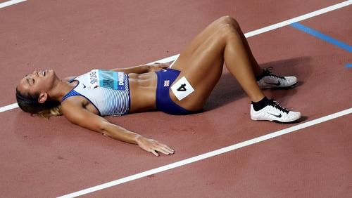 Katarina Johnson-Thompson upset the odds in Doha
