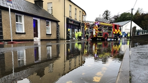 As well as flooding at New Row in Donegal Town, there are reports of flooding at a number of housing estates in the area, affecting as many as 40 homes