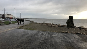 People are back walking the promenade this morning at Salthill in Co Galway