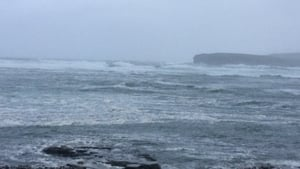 Wild seas in west Clare
