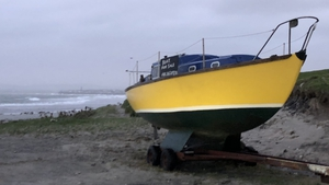 A boat moored in Spanish Point in Co Clare